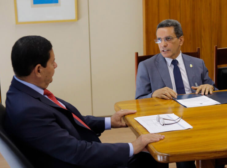 senador Mecias de Jesus e vice-presidente da República, Hamilton Mourão